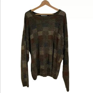 90's Vintage Pronto Uomo Men's Cosby Knit Sweater